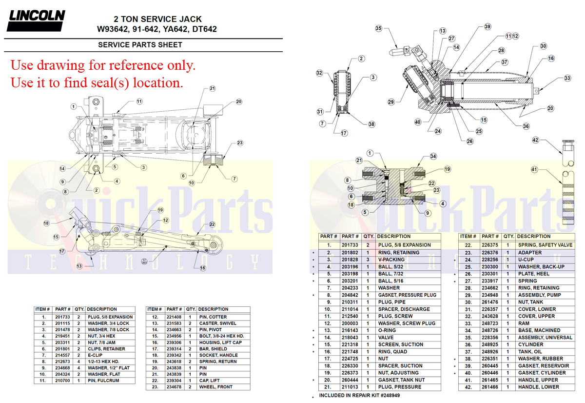 Lazzars Floor Jack Hydraulic Cylinder Repair Part Supplier Eagle 2 45 Lift Wiring Diagram 93642 Drawing For Amazon Ton Download Pdf